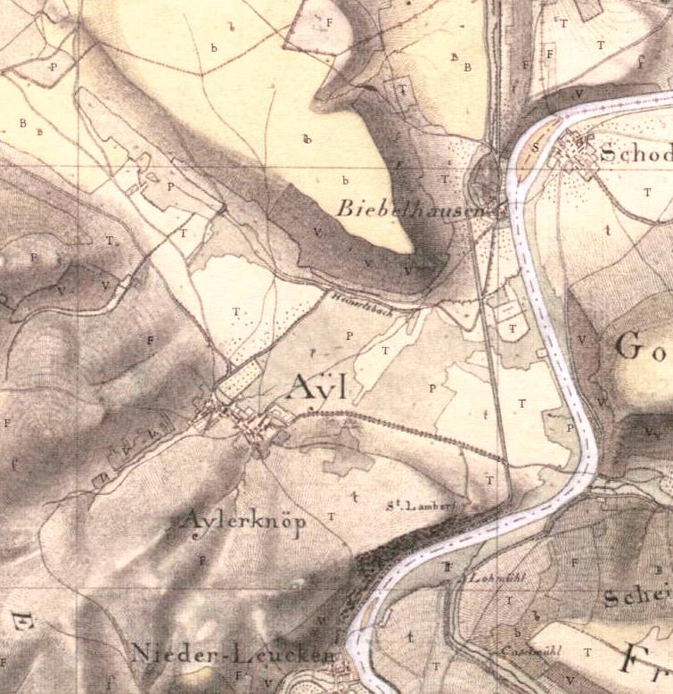 Napoleons Generalstabskarte (um 1803)
