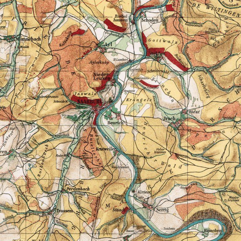 Saar Ayl 1812 Map